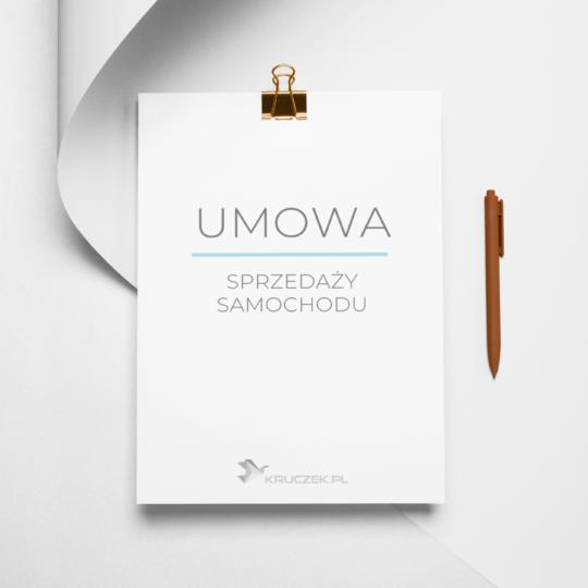umowa sprzedaży samochodu - wzór stworzony przez prawnika Kruczek.pl
