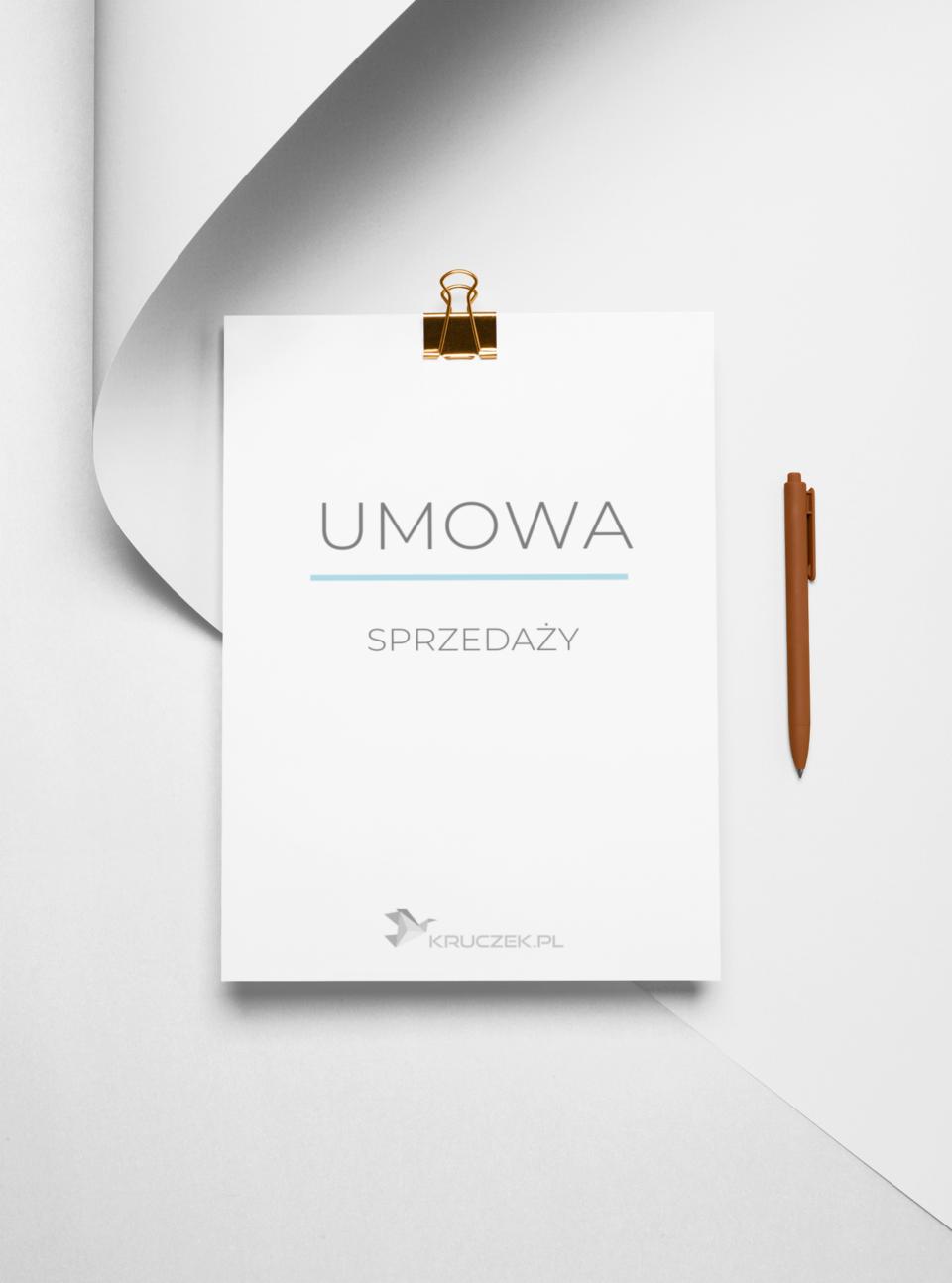 umowa sprzedaży - wzór stworzony przez prawnika Kruczek.pl